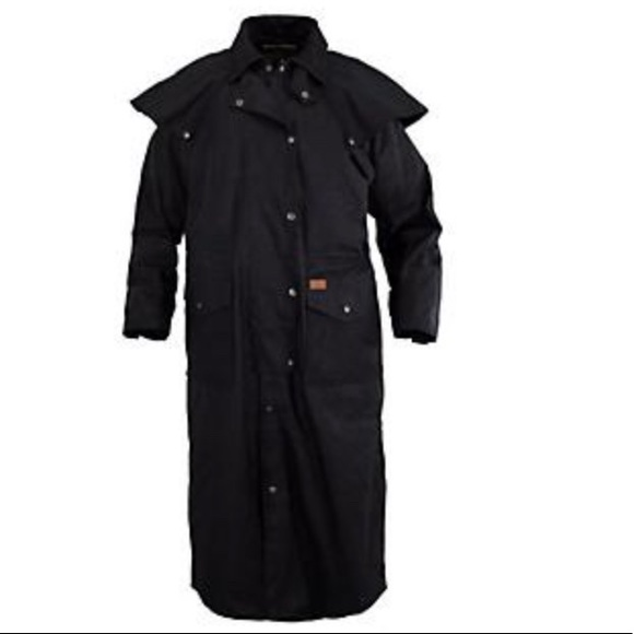 Outback Trading Company Jackets & Blazers - Outback Trading Company Black Duster Size Medium